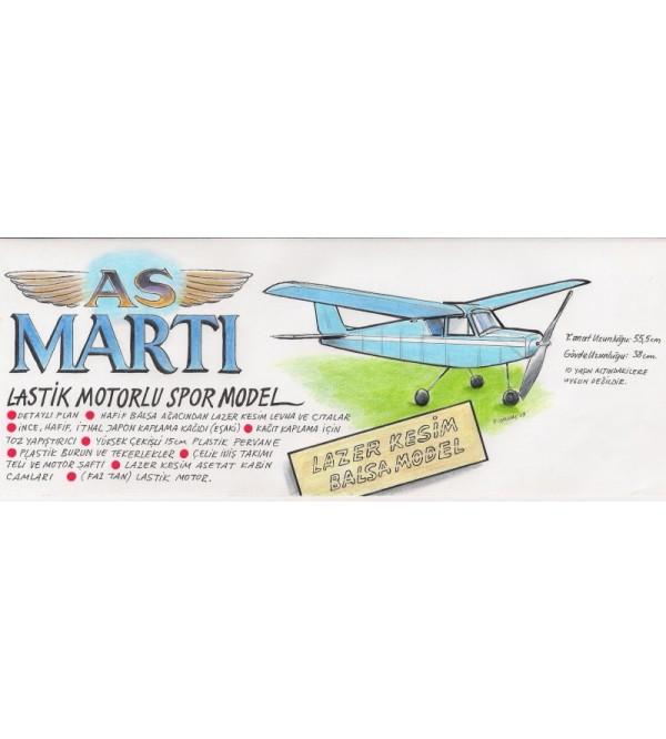 AS MARTI Lastik Motorlu Spor Model Uçak